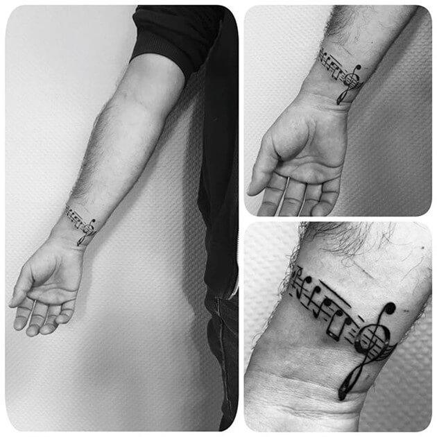 Mẫu hình xăm đẹp cho nam ở cổ tay