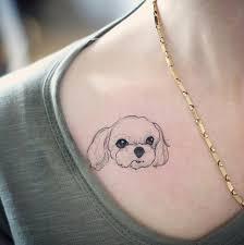 Hình xăm con chó sẽ là sự lựa chọn tuyệt vời cho các bạn nữ khi lựa chọn hình xăm hợp tuổi Giáp Dần của mình.