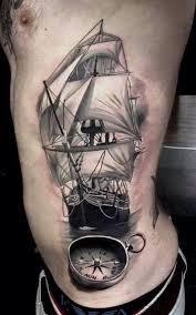 Chủ đề thuyền buồm - Hình xăm cho nam mệnh Mộc đem lại may mắn, bình an.