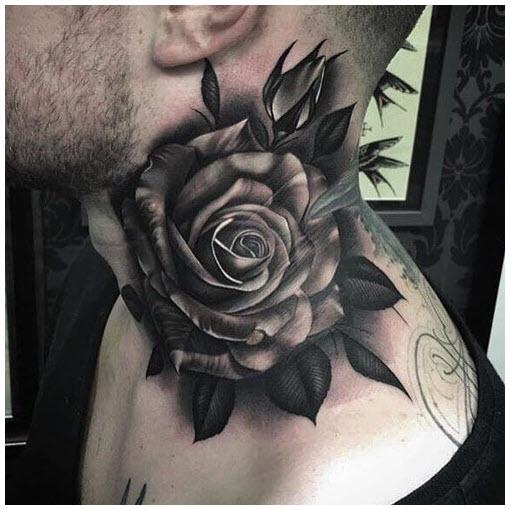 Ý tưởng hình xăm hoa hồng đen cho nam lựa chọn