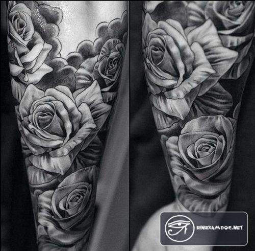 Hình xăm 3d hoa hồng cho nam giới