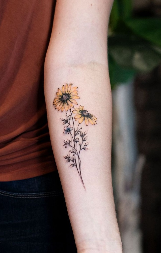 Khám phá ngay hình tattoo hoa hướng dương