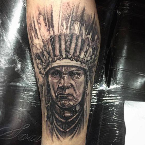 Chia sẻ hình xăm đầu thổ dân da đỏ