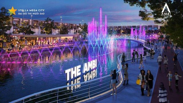 Dòng sông thơ mộng tại Stella Mega City - Đại đô thị ngôi sao